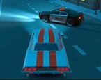 3D Gece Şehirde Araba Sürme