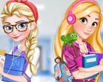 Elsa ve Rapunzel Giydir