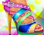 Topuklu Ayakkabı Süsleme