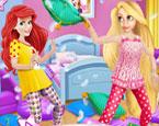 Ariel ve Rapunzel Paijama Partisi