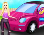 Barbie Araba Temizleme