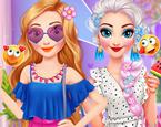 Elsa ve Rapunzel Tatil Günü