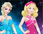 Elsa Ve Barbie Kombin Yarışı