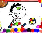 Futbolcu Boyama