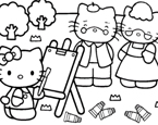 Hello Kitty Yüz Boyama