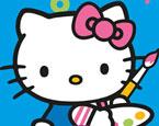 Sayılı Hello Kitty Boyama
