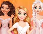 Prensesler Kıyafet Boyama