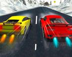 Karlı Havada Araba Yarışı