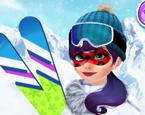 Maskeli Hanım Kayak Zamanı