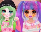 Kızlara Renkli Makyaj Yap