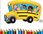 Okul Otobüsü Boyama