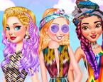 Prenseslerin Renkli Saçları