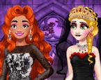 Prenses Siyah Düğün Elbiseleri
