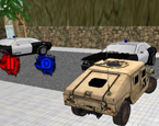 Şehirde Polis Araba Sürme